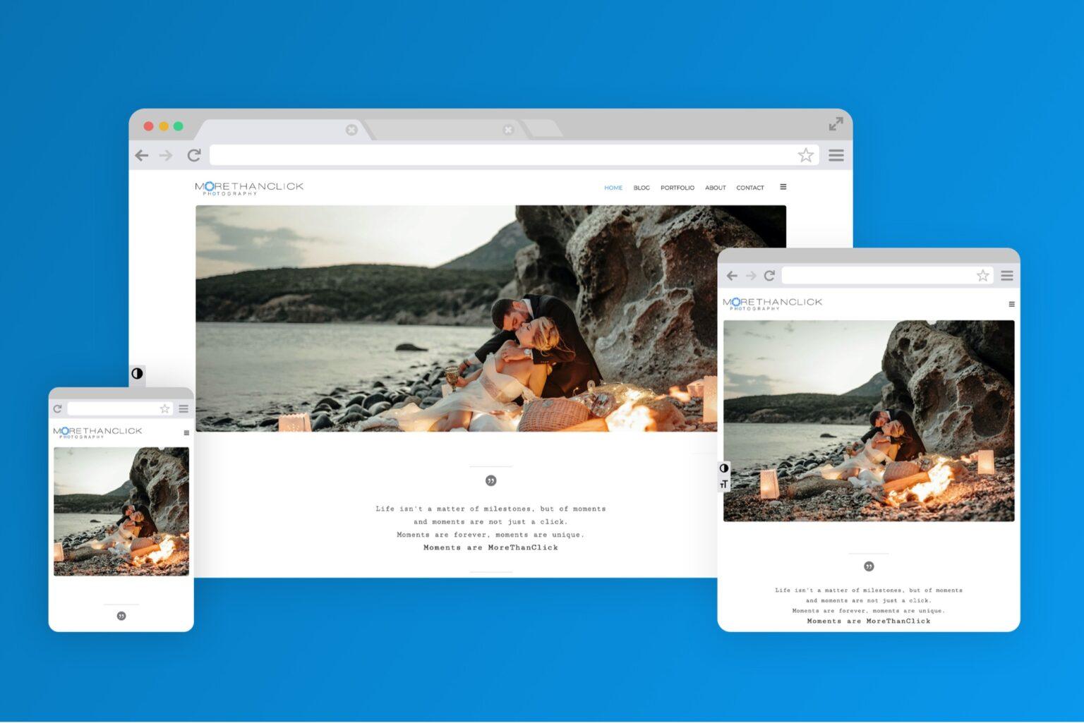 morethanclick.gr website screenshot - codeheaven studios portfolio