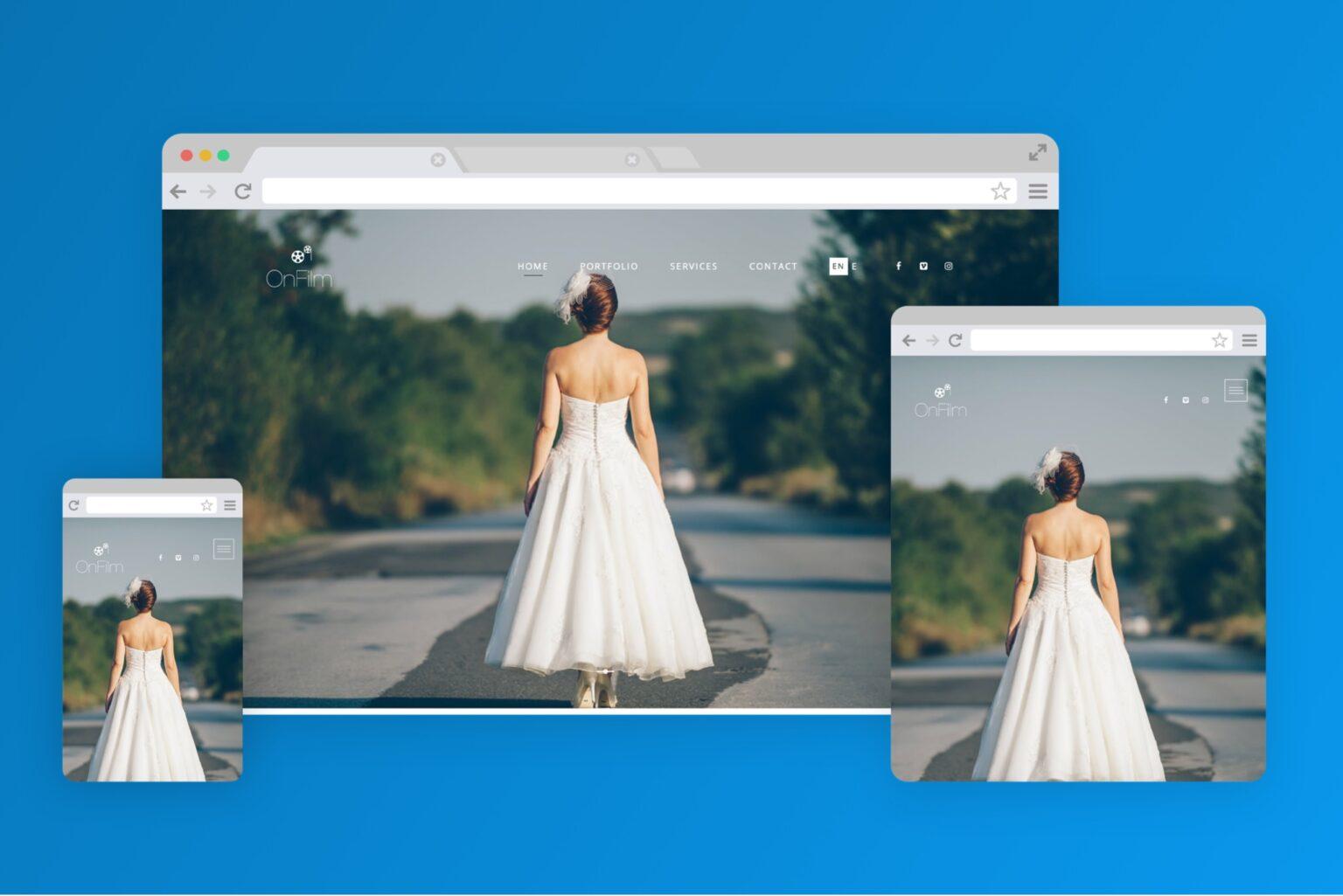 onfilm.gr website screenshot - codeheaven studios portfolio
